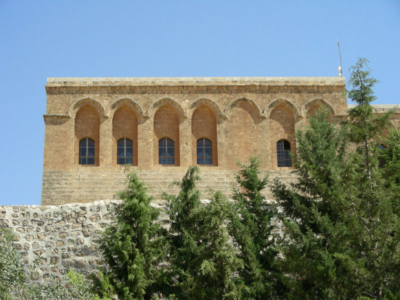 The Monastery of St. Ananias Deyrulzafaran Monastery, Mardin-Turkey Architecture Building Exterior Built Structure Church Architecture Clear Sky Day Fortress History Low Angle View Mardin Monastery Nature No People Outdoors Sky The Monastery Of St. Ananias Travel Destinations Travel Photography Tree Turkey