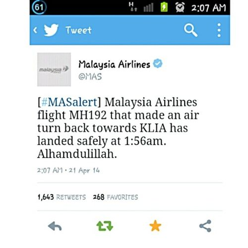 Thanks God :)) MAS MH192