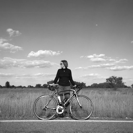 My Partner Bicycle Specialized Cycling Street Photography Portraits Urban Landscape EyeEm Bnw Bnw_life Black And White Black & White My Wife