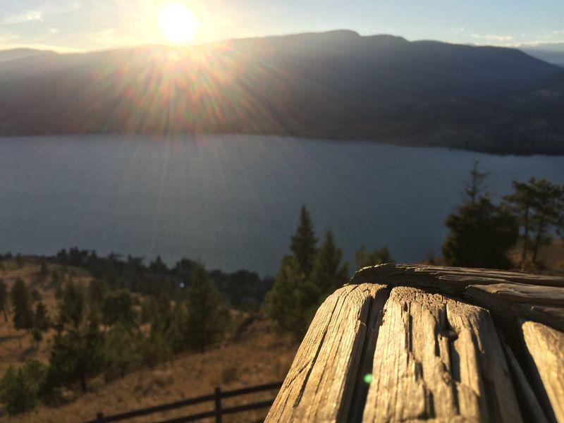 Sunset on the peak.. IPhoneography Okanaganlake Nofilter Beautifulbc Kelowna