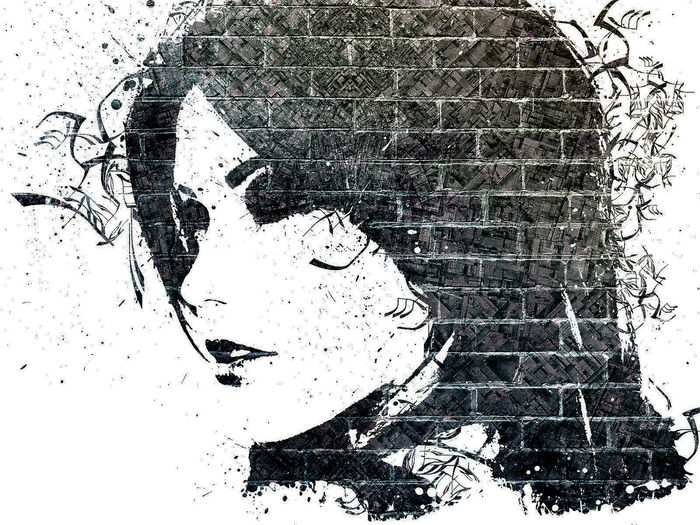 Unknown Girl Unique Picture  Bricks