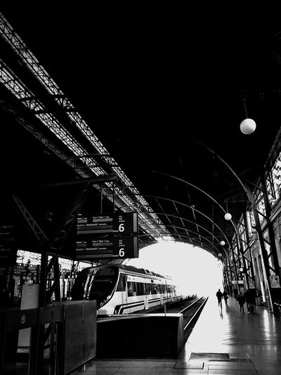 Architecture_bw Train Station Black And White