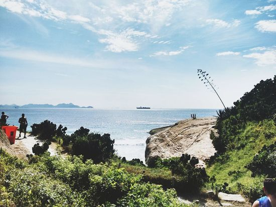 Enjoying Life Horizon Over Water Summertime Landscape Brazil Sunny Day Beach Pedra Do Arpoador Summer Rio De Janeiro Sea And Sky Relaxing Sunny Brasil Nature