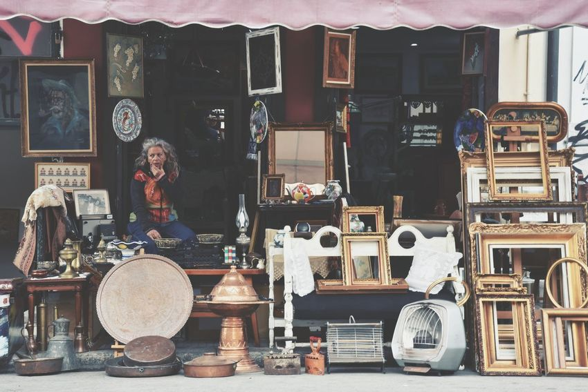 """""""Waiting..."""" Antique Retail  WomeninBusiness Antiques Old But Awesome From Where I Stand One Person One Woman Only Business Business Stories Woman Vintage Vintage Style Variation Choice Shop Work Eye4photography  EyeEm Gallery"""