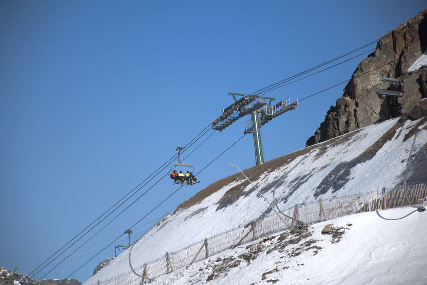 Skiing in ordino-arcalis (Andorra) Andorra Skiing ❄ Low Angle View Beauty In Nature Sky Winter Mountain Nature Clear Sky Snowcapped Mountain Outdoors Cable Day Cable Car