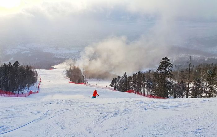 Ski Skiing Winter Snow❄ Snow Sky And Clouds Skyandclouds  Mountain View