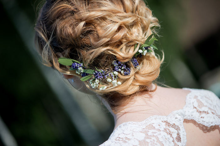Hair Wedding Wedding Photography Beauty Care Blond Hair Bride Bridegroom Celebration Close-up Day Flower Haircut Hairstyle Life Events Lifestyles One Person Outdoors People Real People Rear View Wearing Flowers Wedding Wedding Dress Wedding Hair Wedding Hairstyles