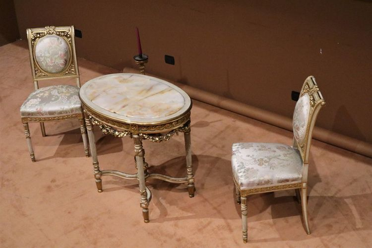 Theater Belloni Flooring Seat Still Life Table Theater Pit Wood - Material Wooden Shabby Chic