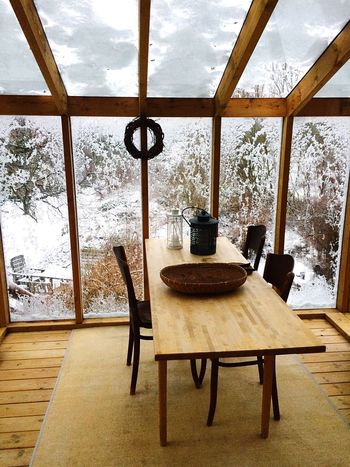 My father in law is an architect, and this is his winter garden. A glass conservatory built on to a house from 1890. Just beautiful Architecture Interior Design Garden Architecture Scandinavian Design Wood House