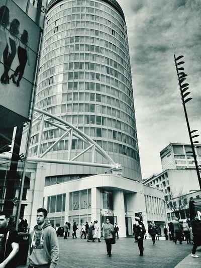 The Rotunda, New Street, Architecture Black And White Birmingham