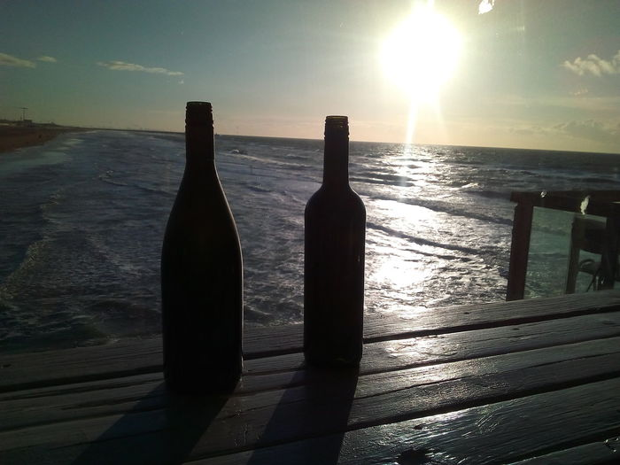 Water Sea Shadow Cold Temperature Sunset Beach Sunlight Bottle Silhouette Sky Water Bottle  Beverage Thirsty