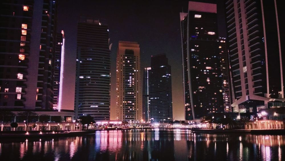 Colorful JLT Dubai❤ Skyscrapers Night