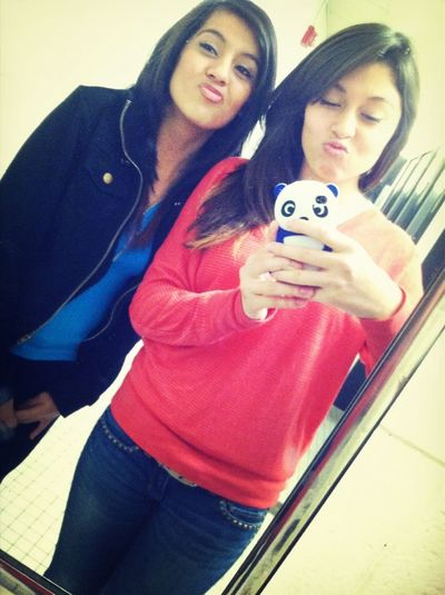 Taking pictures in the bathroom wit my bestfriend ❤