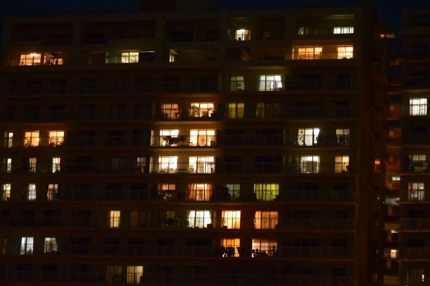 生きる Life Force Building Story Illuminated Night Darkness And Light Nightphotography Night Photography City
