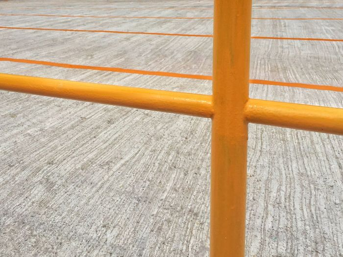 Close up of yellow line