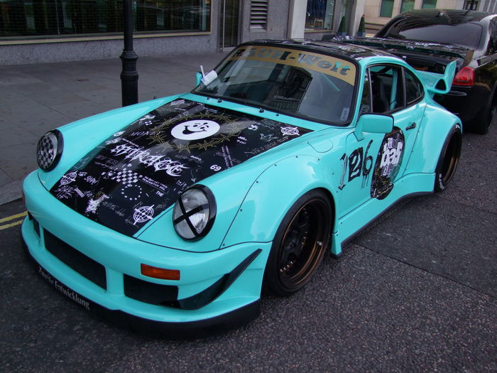 Mod Ball Rally Turquoise Porche Composition GB London Porche Turquoise Colour Unusual Capital City Car Full Frame Land Vehicle Modballrally Mode Of Transportation Motor Vehicle No People Outdoor Photography Parked Car Rally Car Retro Styled Sports Car Stationary Street Text Transportation Uk Western Script
