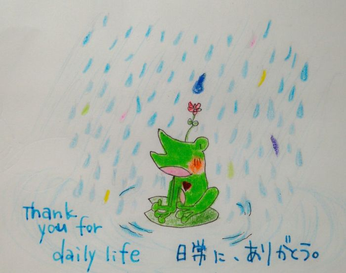 My Draw Art Drawing Hapiness To You when i say in English⇨thank you for daily life*