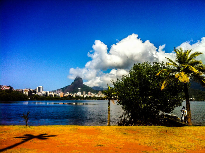 November 2014. Brazil! Saudades... Beauty In Nature Calm Distant IPhone 4 IPhoneography Lake Lakeshore Majestic Outdoors Postprocessing Reflection Relaxing Moments Scenics Sky Standing Water Summer Tranquil Scene Tranquility Tree Tropical Climate Vignette Water Waterfront