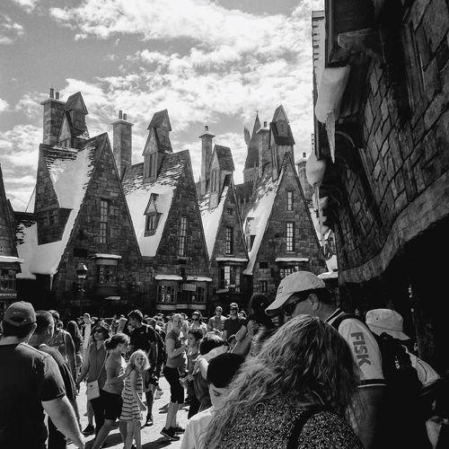 Hogsmeade WizardingworldofHarryPotter Orlando EyeEm Best Shots - Black + White Blackandwhite Monochrome Mobilephotography EyeEm Bnw Streamzoofamily Traveling Streetphotography
