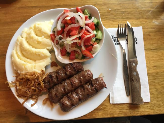 Food And Drink Food Plate Meat Freshness Ready-to-eat Fork Tomato Indoors  No People Vegetable Close-up Day Kebab Kabab Romanian Food Food Stories