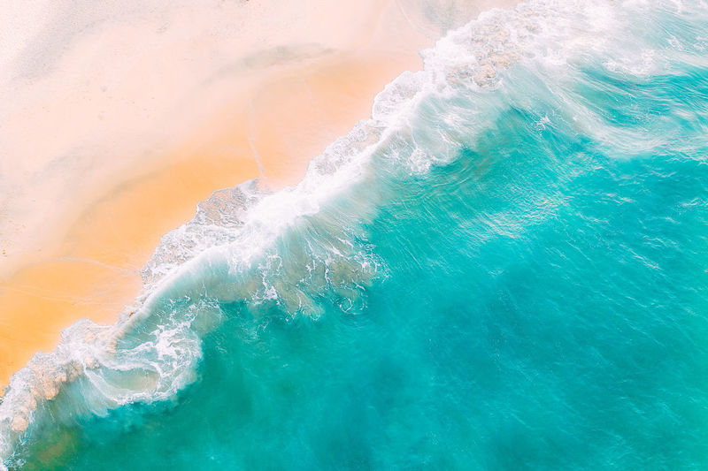 Water Sea Beauty In Nature No People Nature Day Motion Outdoors Wave Scenics - Nature High Angle View Power In Nature Full Frame Tranquil Scene Idyllic Beach Land Tranquility Turquoise Colored