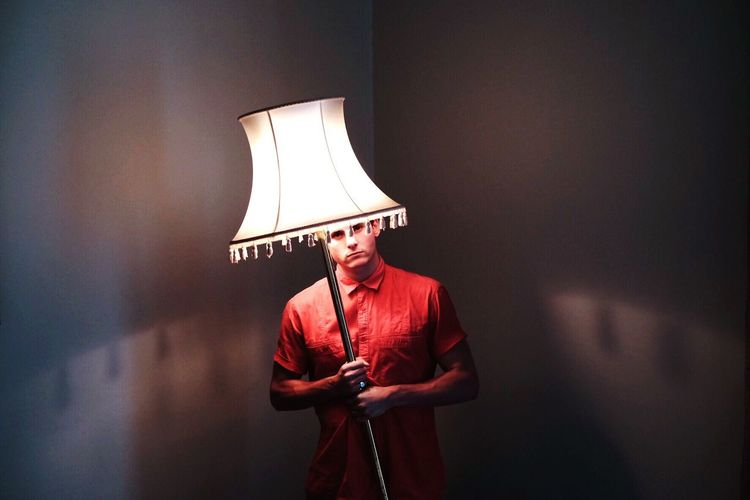 There's something with the lamp shade. South Africa Man Boy Portrait
