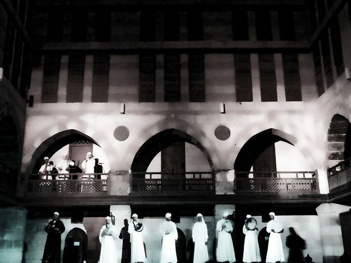 Architecture Built Structure Arch Travel Destinations City Indoors  Day Building Exterior Men People Music Is My Life Traditional Clothing Egyptian Folklore Wekalet Ghuri Music Festival Musical Instrument Egyptian Art Performance A Night Out Cultures City Night