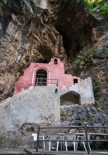 Finding Shelter Furore Furore Italy Amalfi Coast Amalfi  Bella Italia Italy Architecture Built Structure Building Exterior Day Nature No People Building Staircase Outdoors Rock - Object