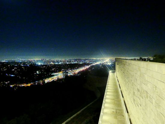 Taking Photos Light In The Darkness Night Photography Los Angeles, California Getty Center Panasonic Lumix Stairway To Light Going Nowhere Fast 405 Freeway