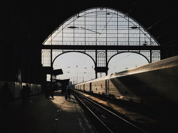Rail Transportation Day Silhouette Keleti Railway Station Keleti Pályaudvar Outdoors Autumn