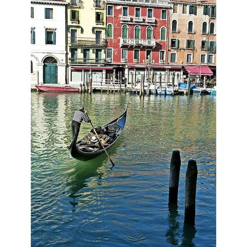 Gondola - Traditional Boat Canal Cultures Building Exterior Architecture Water Transportation Travel Reflection Mode Of Transport Travel Destinations Gondolier Wooden Post Nautical Vessel Outdoors Built Structure No People Day