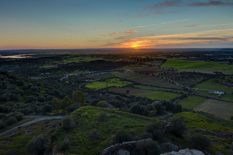 The view from Monsaraz Alentejo Beauty In Nature Contryside Green Color Landscape Nature No People Outdoors Portugal Sunset