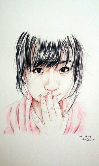 羽月希 Ballpoint Draw Drawing Paint Painting Esedy