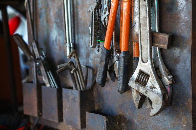 Close-Up Of Metallic Tools