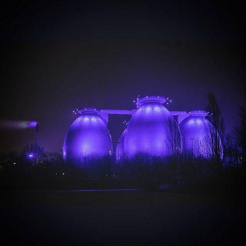 Langzeitbelichtung Nachtaufnahme Nachtfotografie AtNight Night Bottrop Lila Nikon D7100