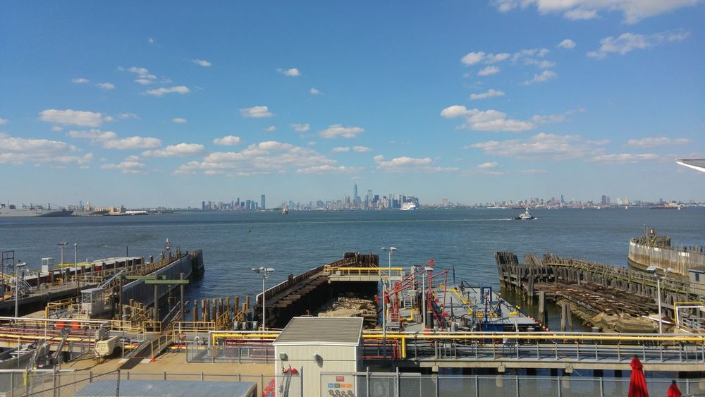 New york from staten island Sky Outdoors Day Sea Blue Beach City Water Architecture Urban Skyline Cityscape New York New York City Staten Island Rollercoaster Amusement Park Ferris Wheel No People