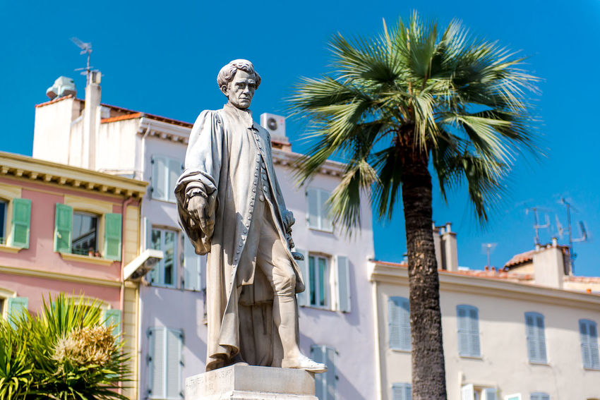 Statue Lord Brougham in Cannes, France Cannes, France City Europe France French Riviera Heritage History Landmark Lord Brougham Memorial Monument Outdoors Palm Trees Provence Alpes Cote D´Azur Sculpture South Statue Summer Symbol Travel Destinations Urban