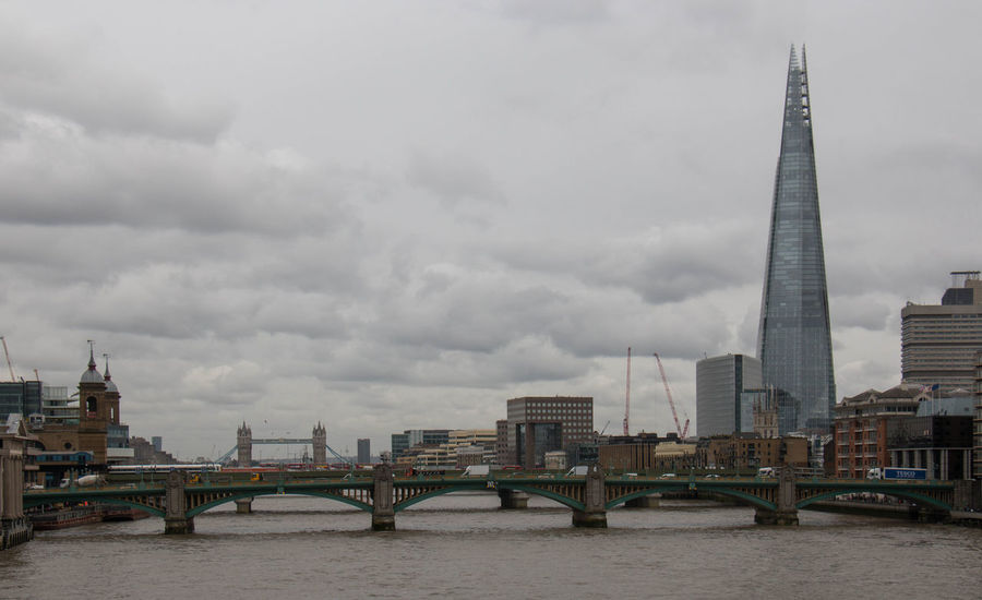 Architecture Bridge - Man Made Structure Building Exterior Built Structure Business Finance And Industry City Cityscape Cloud - Sky Day London London Lifestyle LONDON❤ No People Outdoors Sky Skyscraper Storm Cloud Travel Travel Destinations Uk United Kingdom Urban Skyline