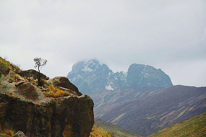 Mount Kenya Mountain Nature Landscape Beauty In Nature No People Outdoors Sky Tree Mountain Peak Kenya Trekking TrekkingDay Trekking In Kenya Asolo Trekker Backpacks Nature_perfection Naturephotography Natural Beauty Mountain Hiking Mountains And Valleys Coldweather Snow❄⛄