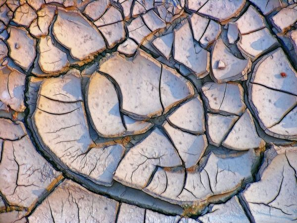 Mud cracks modified. Mud Dried Mud Surfaces And Textures Textures And Surfaces Cracks And Shadows Parched Dry Dry Riverbed Arroyo Arroyo Jevar Andalucia Spain Modified Photo Filtered Image Andalucia Rural