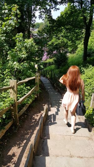 Red in the Greens Freckles Redhead Ginger Plant One Person Real People Tree Full Length Lifestyles Women Growth Leisure Activity Nature Casual Clothing Females Footpath Adult Hairstyle
