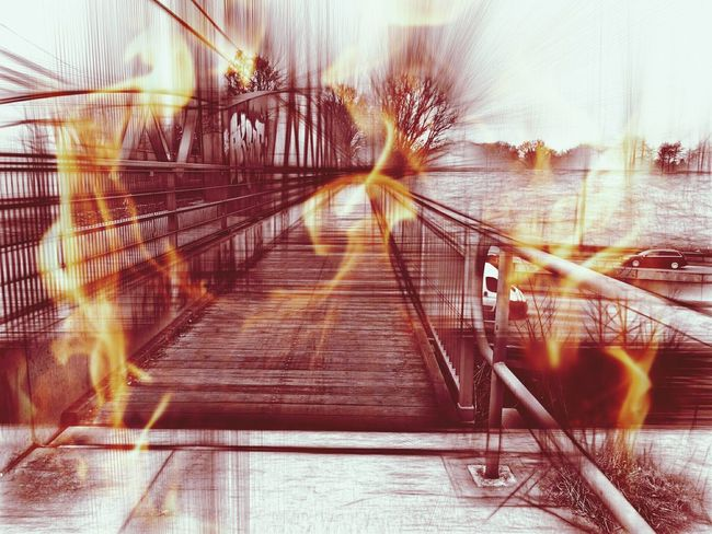 ⛔Highway↗Autobahn🚳 Flame Fire Fireball Fireproof Stadtautobahn Autobahn Autobahnbrücke German Autobahn Taking Photos