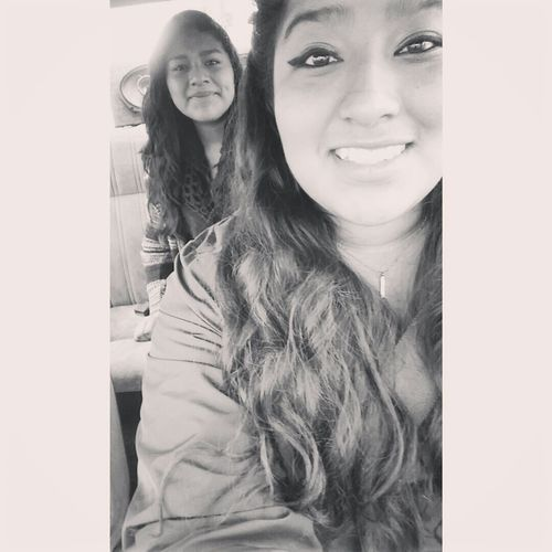 Because we hardly ever take pictures together Sisterbonding Outandabout Goodday Hondas Black And White B&w Photography CatEyeLiner Cheesin Goodday✌️ TheWeekend