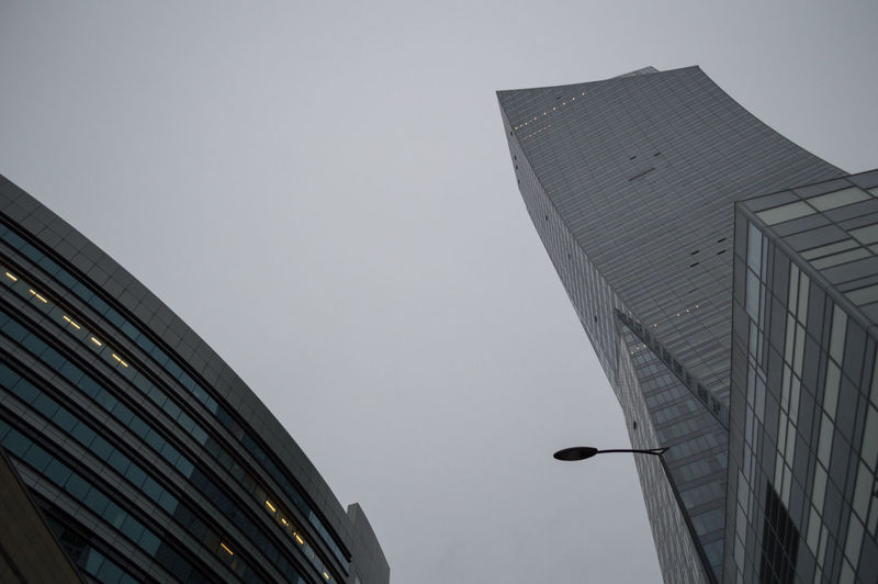 Poland Warsaw Europe Building Exterior Architecture Built Structure Building Low Angle View Sky Office Building Exterior City Office Modern No People Skyscraper Nature Clear Sky Tall - High Tower Outdoors Day Vertebrate Bird High