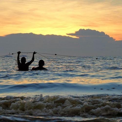 Sunset Silhouettes Sunrise_sunsets_aroundworld Fisherman