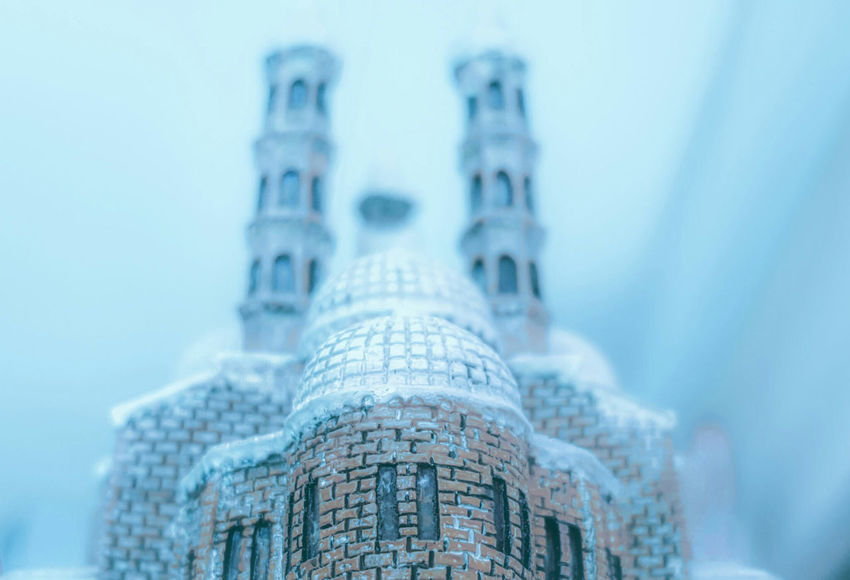 Basilica di San Antonio Architecture Basilica Basilicata, Italy  Blue Building Exterior Built Structure Capital Cities  City Close-up Focus On Foreground High Section Low Angle View Miniature Modern No People Outdoors Selective Focus Silent Hill Sky Snow Tall Tall - High Tourism Tower Travel Destinations