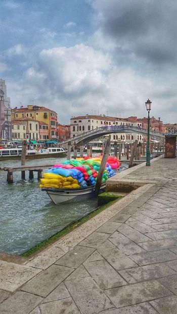 Venice, Italy Venezia Boat Colors Colorful colour of life Cloud - Sky Water City Multi Colored Beach Sand Sea Sky Cloud - Sky Waterfront Canal Nautical Vessel