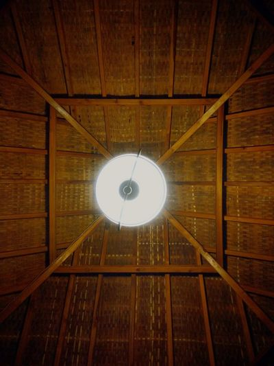 Ceiling Illuminated Electricity  Hanging Lamp Traditional Bamboo Bamboo House Rural Architecture Architectural Detail Third World Country Unique Beauty Nature