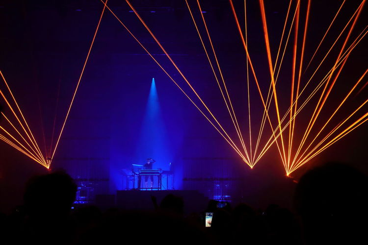 Adult Adults Only Arts Culture And Entertainment Brussels Expo Concert Photography Event Illuminated Indoors  Jean Michel Jarre Laser Light Effect Lighting Equipment Music Night Nightlife Only Men People Popular Music Concert Stage - Performance Space Stage Light