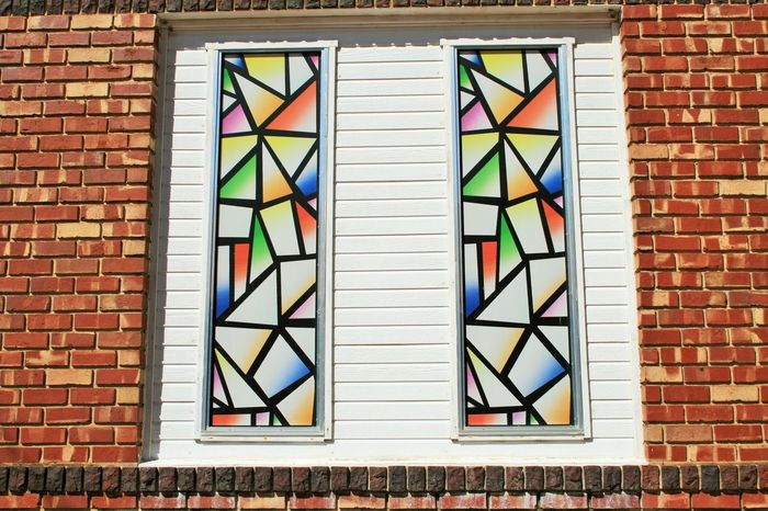 History Outdoors Façade Day Entrance Brick Building Exterior Built Structure Architecture Brick Wall Stained Glass